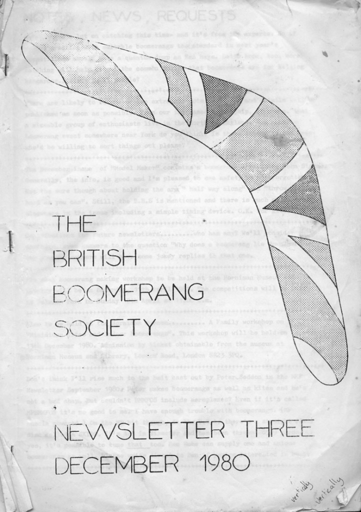 British Boomerang Society Newsletter 1980
